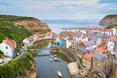 Staithes Yorkshire England UK. Overlooking Staithes Yorkshire England UK Europe Royalty Free Stock Images