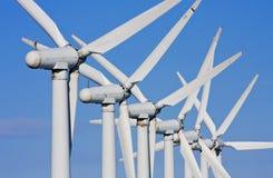 stają windfarm turbiny Obraz Royalty Free