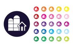 Stajni szyldowa ikona Stajnia koloru symbol ilustracji