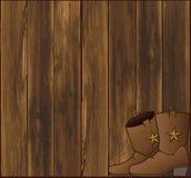 Stajnia buty i ściana ilustracja wektor