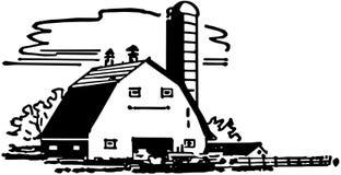 Stajnia i silos ilustracji