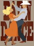 Stajnia taniec ilustracja wektor