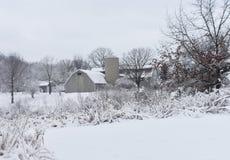 Stajnia w zimie Fotografia Royalty Free