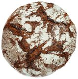 Stak het traditionele bruine hout van Duitsland Beieren geïsoleerd brood in brand stock fotografie