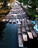 Stakbåtar på Themsen i Oxford arkivfoto