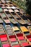 Stakbåtar som förtöjas på floden, Oxford Royaltyfri Fotografi