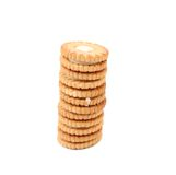Stake of biscuit sandwich. Close up. Royalty Free Stock Images