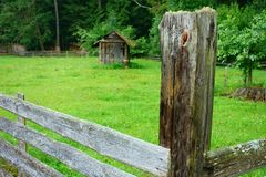 Stake in the fence Royalty Free Stock Images
