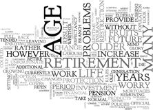 A Stake In The Future For Older People Word Cloud Stock Image