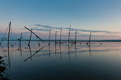 Stake nets for salmon fishing in Scotland Stock Photos