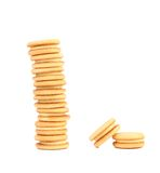 Stake Of Biscuit Sandwich. Close Up. Royalty Free Stock Image