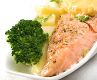 Stake from a salmon Stock Photo
