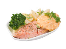 Stake from a salmon Stock Image