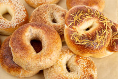 Staked bagels Stock Image