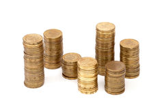 A staked coins Stock Images
