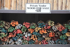 Staked wood for sale Royalty Free Stock Photos