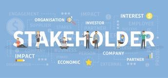 Stakeholder concept illustration. stock illustration