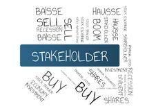 STAKEHOLDER - image with words associated with the topic STOCK EXCHANGE, word cloud, cube, letter, image, illustration Royalty Free Stock Photo