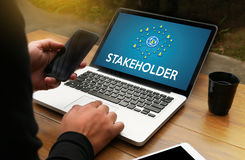 STAKEHOLDER , stakeholder engagement concept  , stakeholders, st Royalty Free Stock Photo