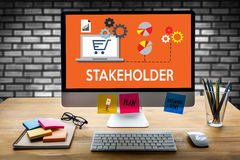 STAKEHOLDER , stakeholder engagement concept  , stakeholders, st. Rategy mind map, business  , Partner Deal  Stakeholder Contributor Shareholder , Business Stock Photo