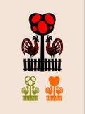 Staket royaltyfri illustrationer