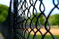 Staket av baseballlekplatsen royaltyfria foton