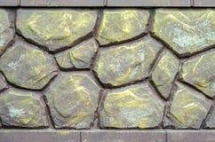 Staket av den dekorativa stenen Arkivbild