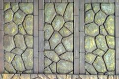Staket av den dekorativa stenen Arkivfoto