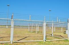 Staket av flygplatsen Royaltyfria Foton