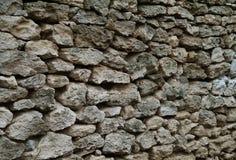 staket av kalksten Arkivfoto