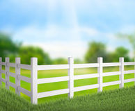Staket And Blur Nature av bakgrund Arkivbild