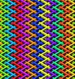 Staket för chain sammanlänkning för färg Royaltyfri Bild