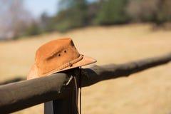 Staket för cowboyhatt Royaltyfri Fotografi