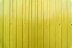 Staket för gul metall fotografering för bildbyråer