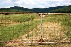 Staket Farmland Fotografering för Bildbyråer