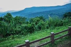 Staket Forrest Mountain Arkivbild