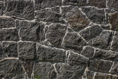 Staket från den mörka stenen arkivbild