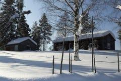 Staket i vintern Royaltyfri Fotografi