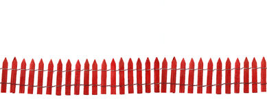 staket isolerad red Arkivfoto