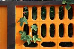 Staket längs apelsinen Royaltyfri Foto
