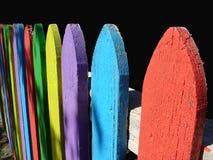 staket målade Fotografering för Bildbyråer