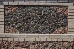 Staket med stenmellanlägg royaltyfri bild