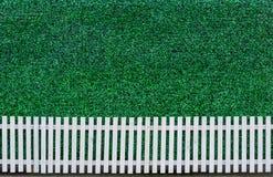 Staket och gräsplanleaf arkivbilder