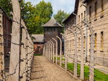 Staket- och vakttorn arkivbild