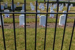 Staket på Carlisle Indian Industrial School Graves Royaltyfri Foto