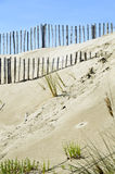 Staket på stranden arkivfoton