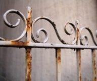 staket rostade white Arkivbild