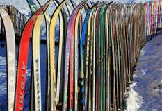 staket skidar Arkivfoto