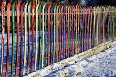 staket skidar Arkivfoton