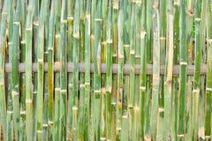 Staket som göras av bambu med en väv Arkivbild